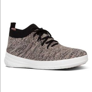 Fitflop Metallic Überknit Slip-On Hi-Top Sneaker